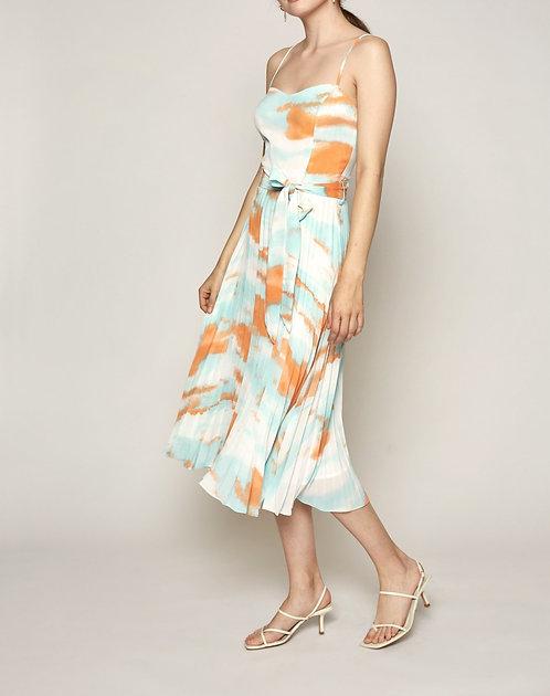 Tie Dye Pleated Dress