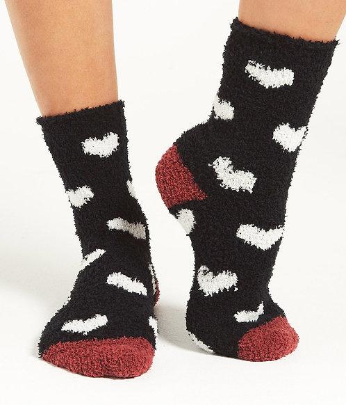 ZS Heart Plush Socks