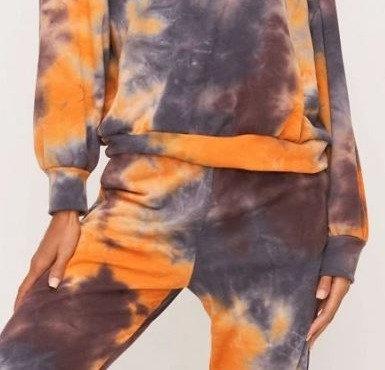 Midnight Orange Tie Dye Joggers