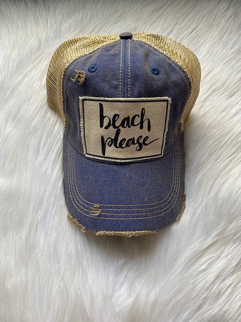 Beach Please Hat (blue)