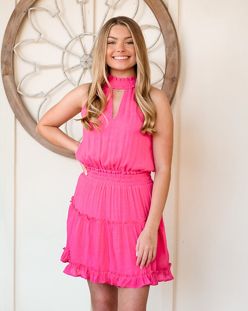 Ruffle Halter Dress (p)