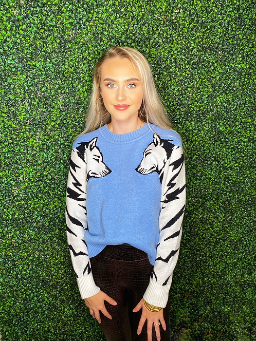 Mink Pink Wolf Pack Knit Sweater