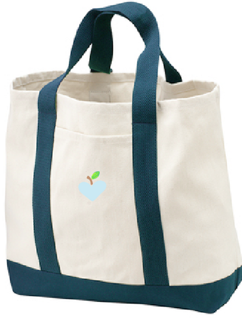 Navy- Two Tone Storage Tote