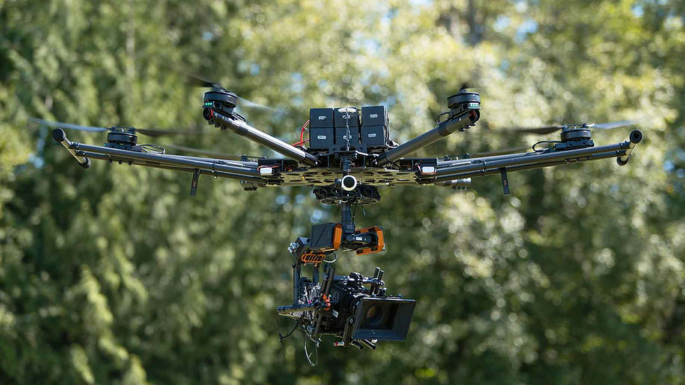 Rapture HEX heavy lift drone. Custom made in-house by Revered Cinema in Vancouver.