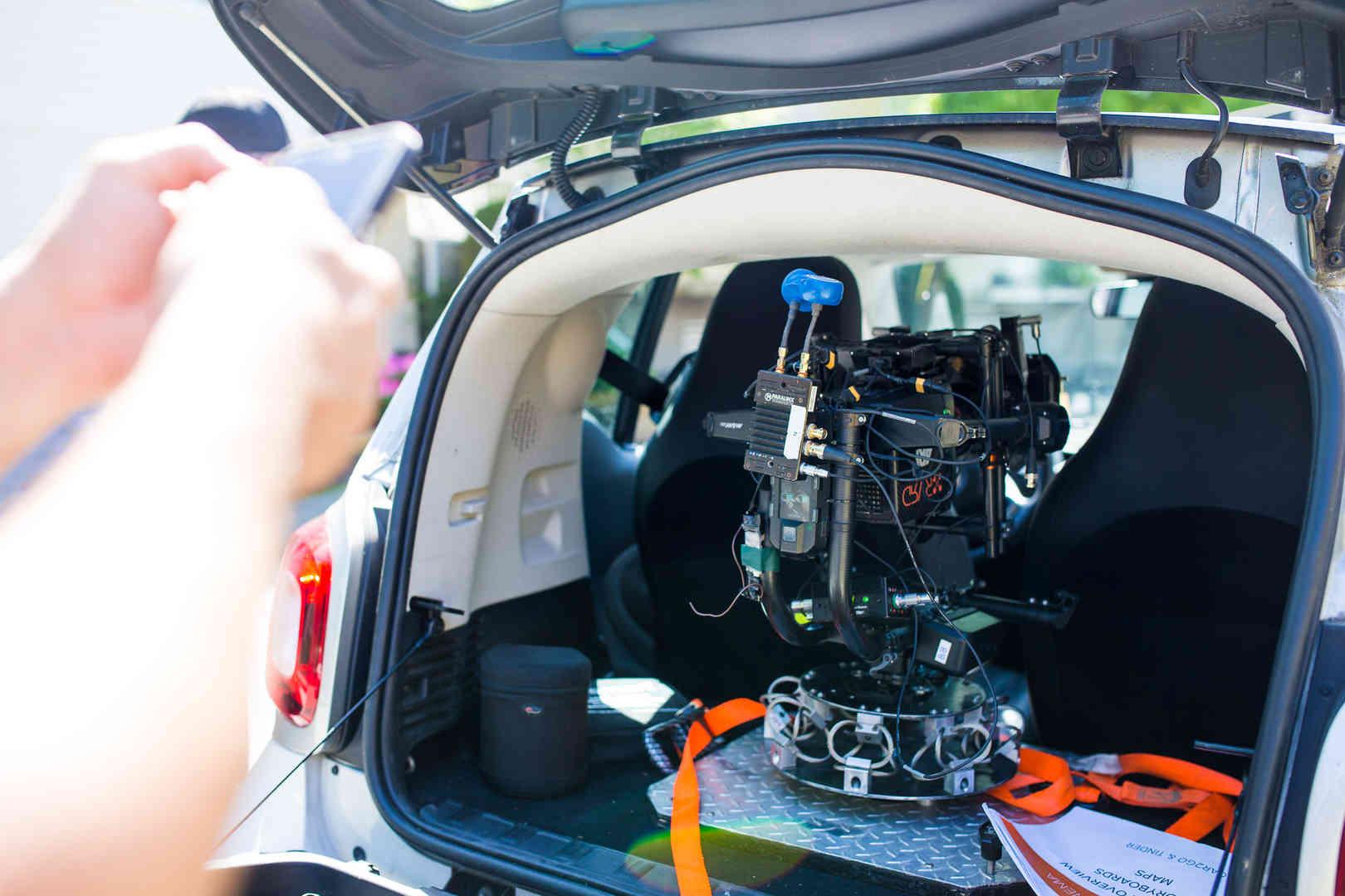 Cinema Camera In Smart Car