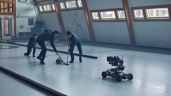 Camera On RC Cars - Curling