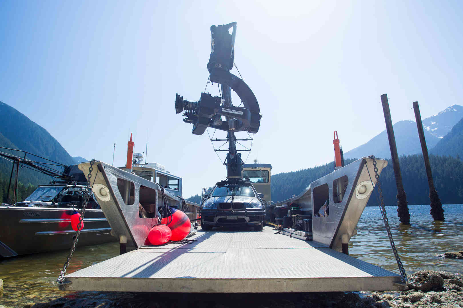 Russian Arm BMW X5M On Boat