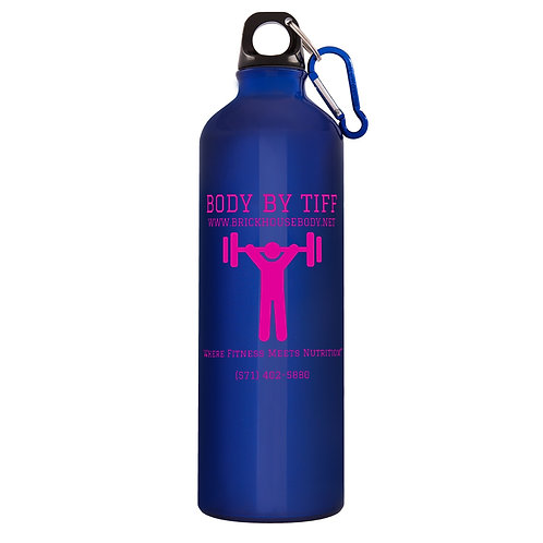 Santa Fe 26-Ounce Aluminum Bottle in Blue/Pink