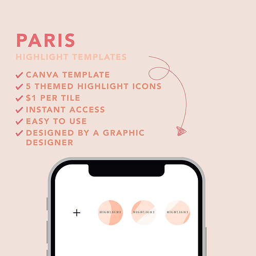 Paris Highlight Icons Template