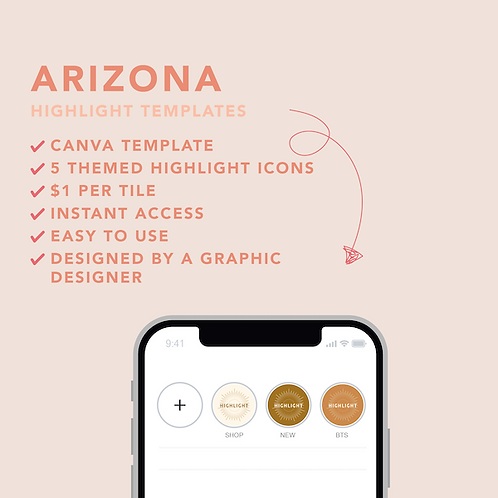 Arizona Highlight Icons Template