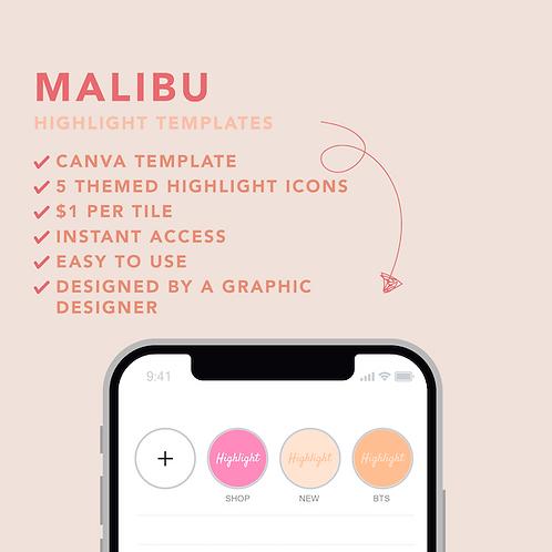Malibu Highlight Icons Template