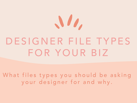 Eeek help! What files types do I need for my biz?