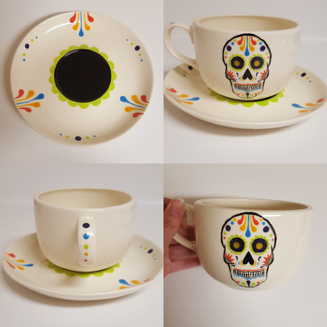 Sugar Skull Tea Cup