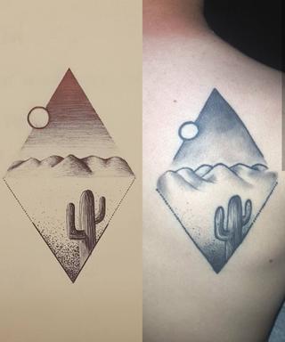 Original commissioned tattoo design. 2016.