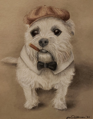 Ozzy with Cigar, Hat, + Bow Tie