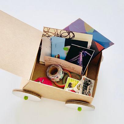 art cart with materials