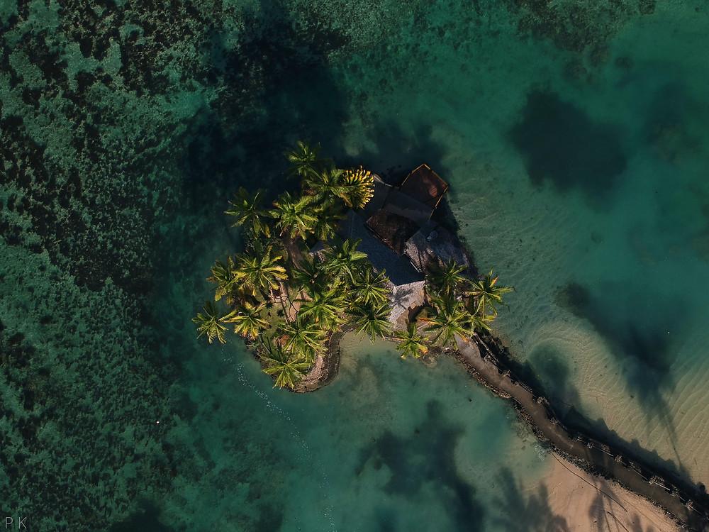 Overhead of the Wicked Walu at the Warwick Resort in Fiji.