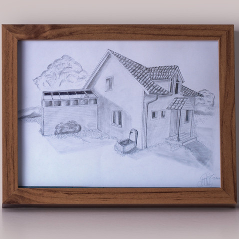 House drawing © André Cirieco 2014