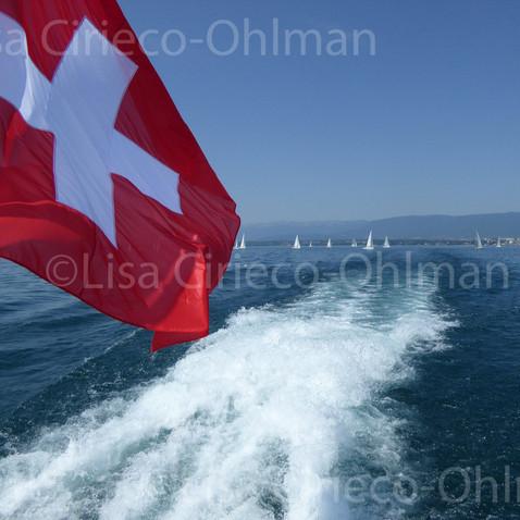Swiss Flag © Lisa Cirieco-Ohlman 2015