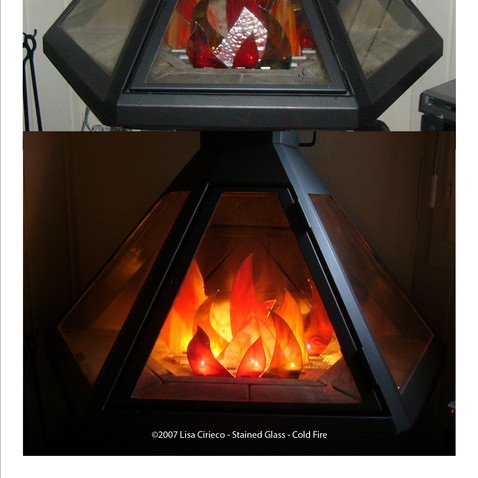 Stained Glass - Cold Fire ©2009 Lisa Cirieco