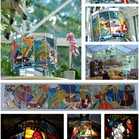 Stained Glass - Perpetual Lamp - ©2013 Lisa Cirieco