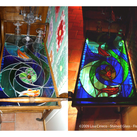Stained Glass - Fish Table ©2009 Lisa Cirieco