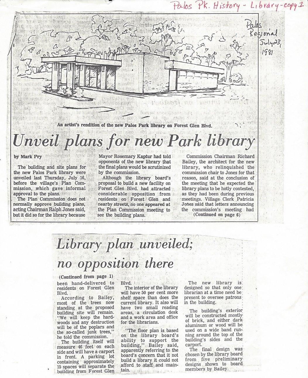 Palos Regional (July 23, 1981)