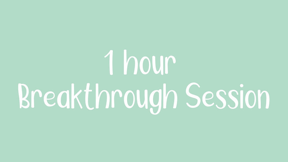 1 hour Breakthrough Session