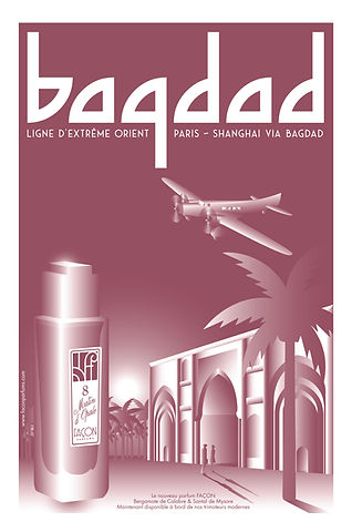POSTER BAGHDAD FRAGRANCE FACON PARFUMS P