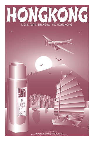 POSTER HONGKONG FRAGRANCE FACON PARFUMS