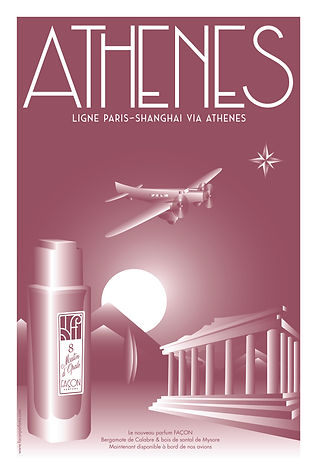 POSTER ATHENS FRAGRANCE FACON PARFUMS FI