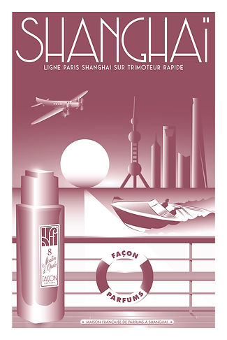 POSTER SHANGHAI FRAGRANCE FACON PARFUMS