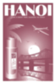 POSTER HANOI FRAGRANCE FACON PARFUMS PAR