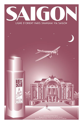POSTER SAIGON FRAGRANCE FACON PARFUMS PA