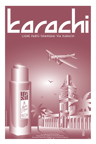 POSTER KARACHI FRAGRANCE FACON PARFUMS P