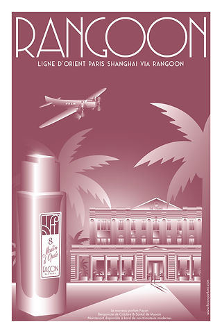 POSTER RANGOON FRAGRANCE FACON PARFUMS P