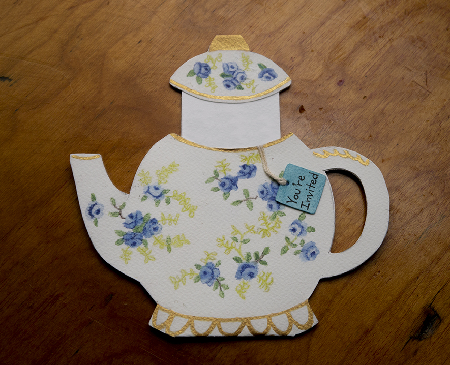 Teapot Birthday Invitation