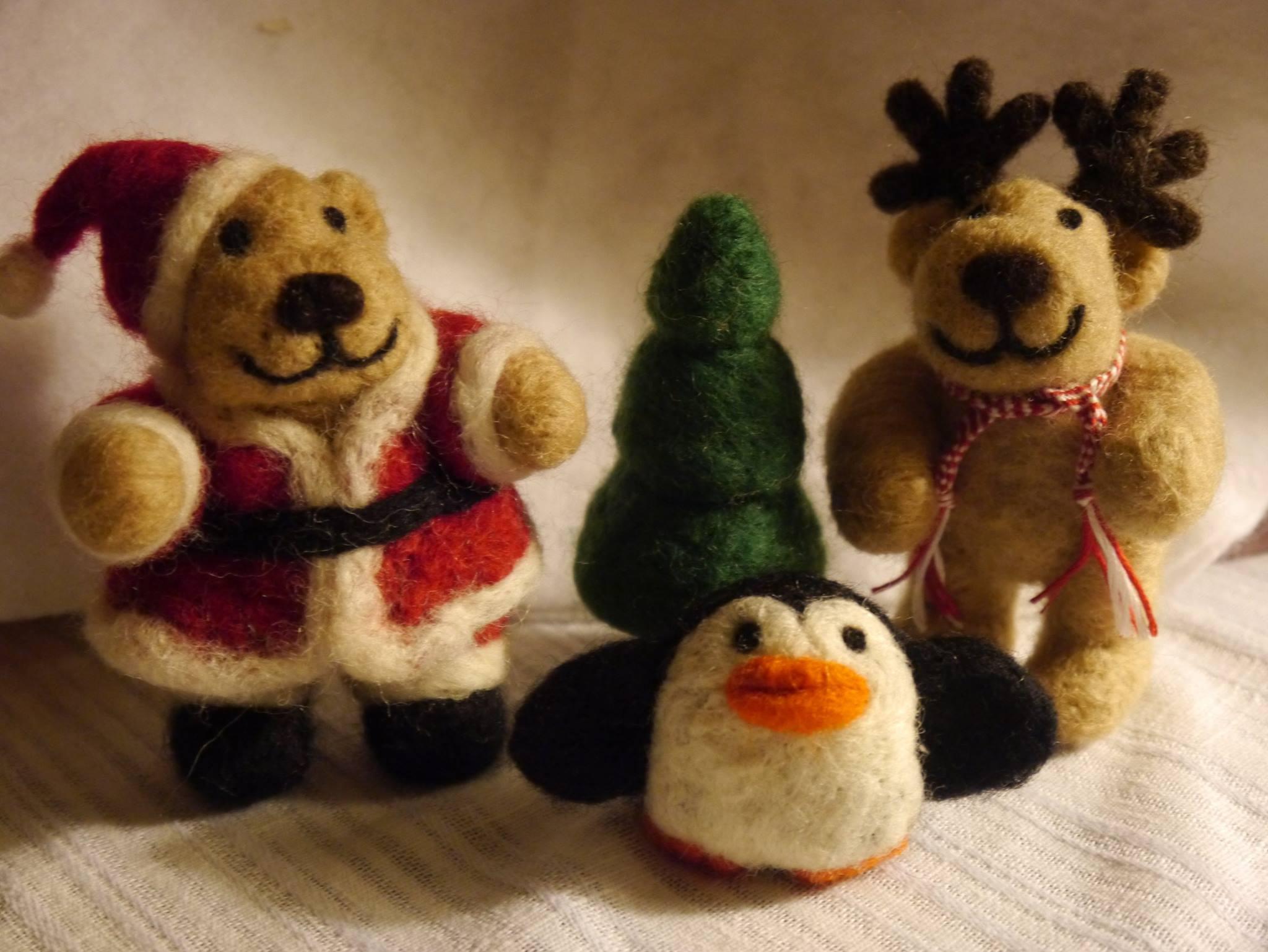 Santa Bear and Friends