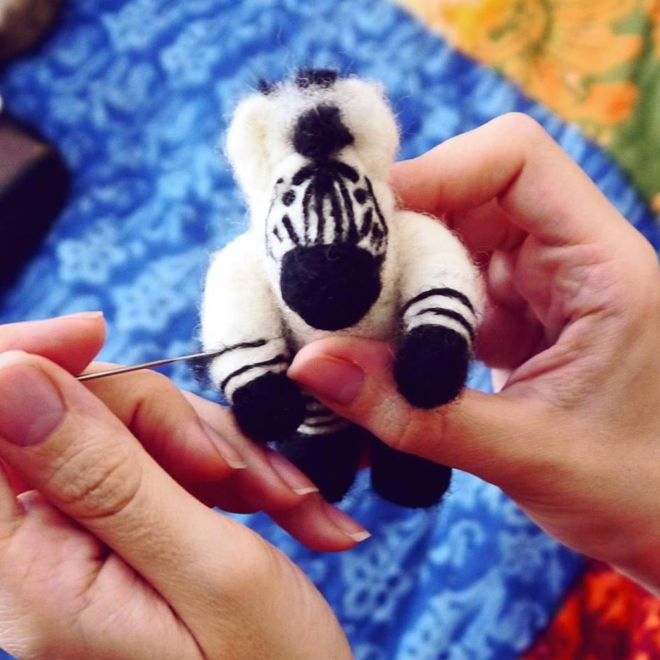 Zebra getting his stripes