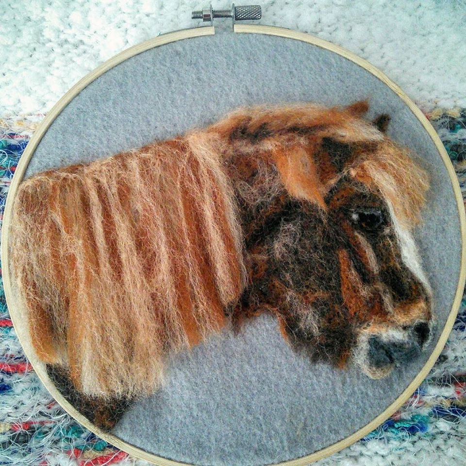 Felted Pony painting