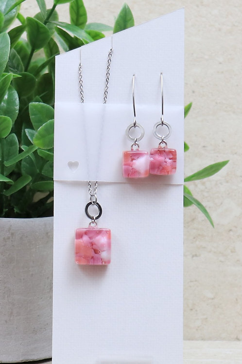 Pink, Salmon and White Organic Collection