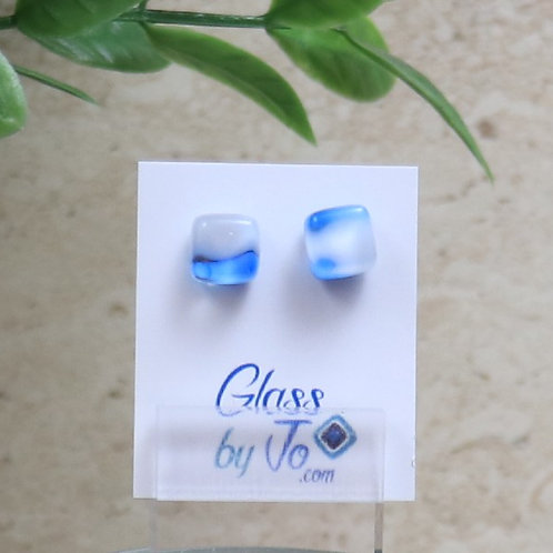 Blue and White Cube Pebble Collection