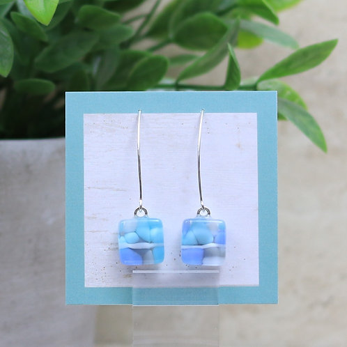 Aqua, White, Gray and Periwinkle Pebble Collection