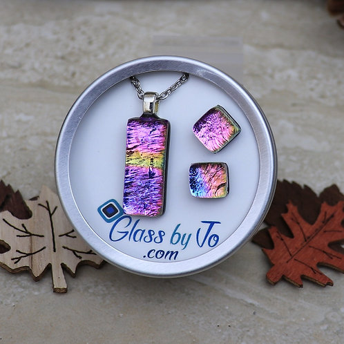 Pink, Purple and Yellow Dichroic