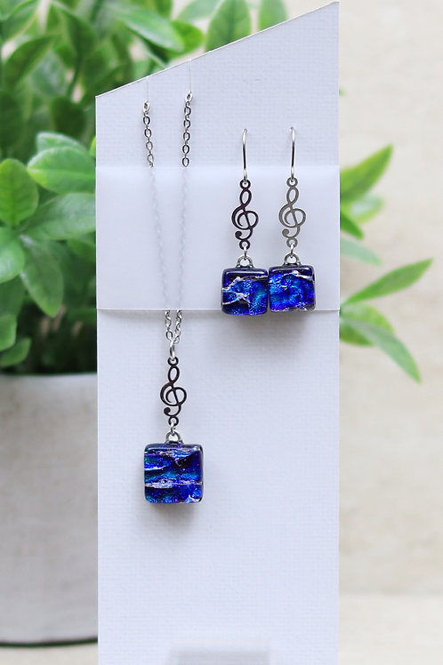 Blue Dichroic With Musical Note