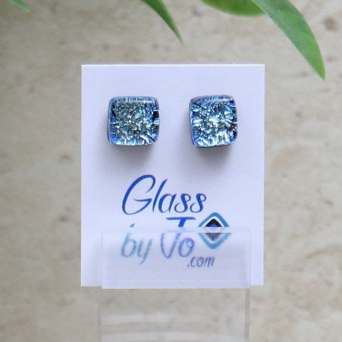 Silver/Blue Dichroic Square