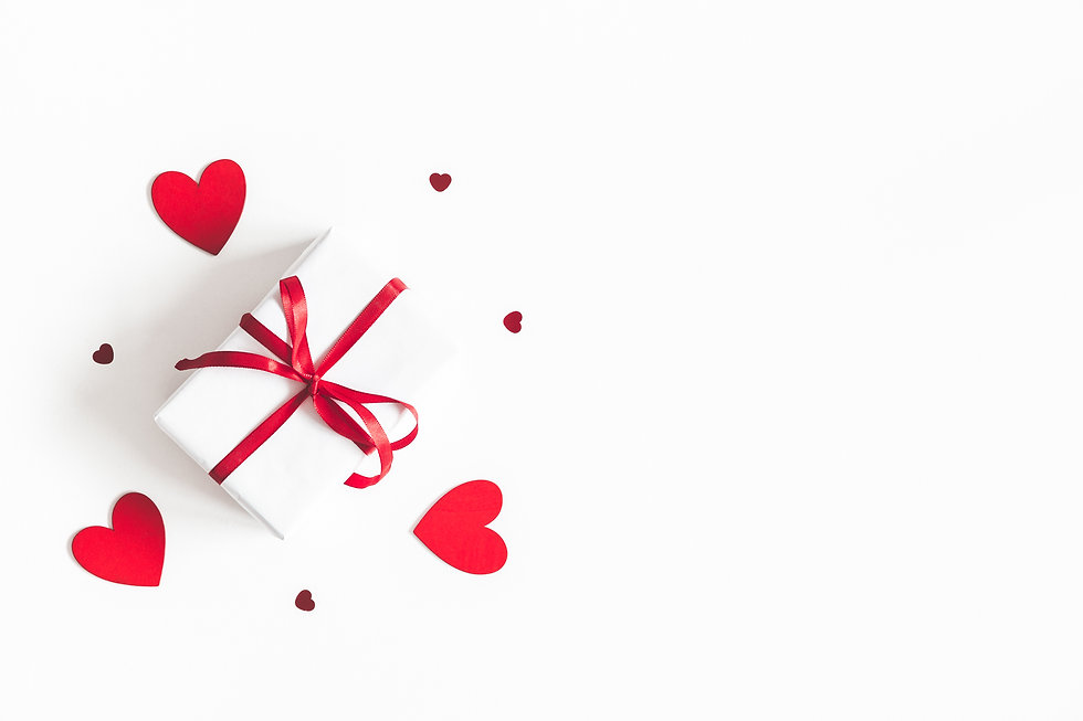 Valentine's Day background. Gift box on