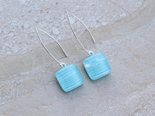 Light Blue Aqua Earrings