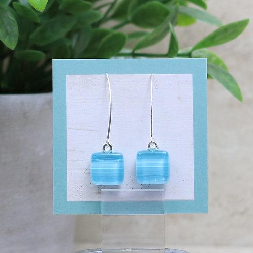 Aqua Blue and Soft White