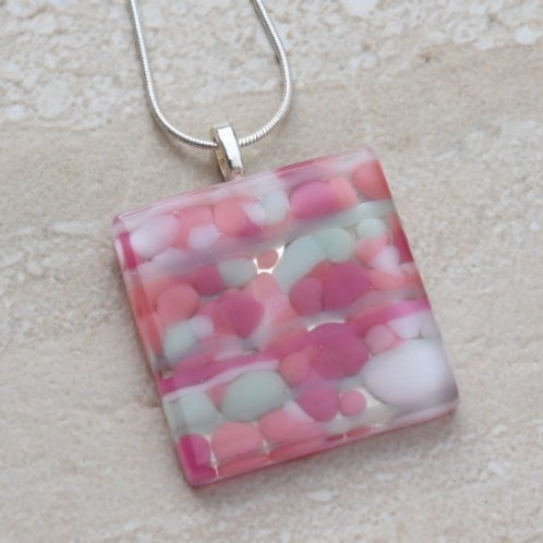 Pink, White and Mint Pebble Collection